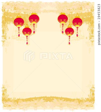 Chinese New Year Card Vector Stock Illustration 19453823 Pixta