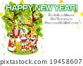 新年賀卡 表現 賀年片 19458607