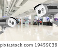 CCTV Security camera shopping department store. 19459039