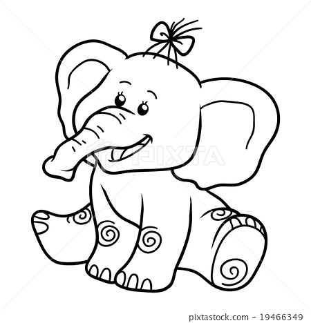 Coloring Book For Children Elephant