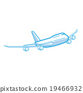 Plane, transportation vehicles, Flat style 19466932