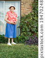female, gardening, holding 19470248