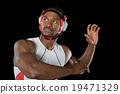 黑色背景 运动服 男人 19471329