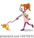 和狗一起散步 19473633