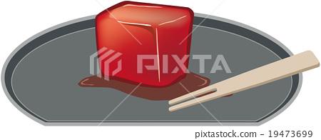 Image illustration of tofu yoyo on plate 19473699