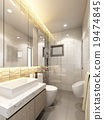 3d render of interior bathroom  19474845