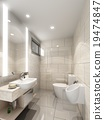 3d render of interior bathroom  19474847