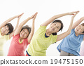 做健身的精力充沛的資深婦女 19475150