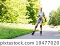 woman, roller, skates 19477020