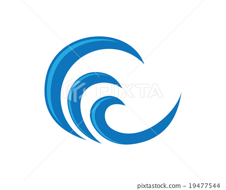 Wave Symbol And Icon Logo Template Vector Stock