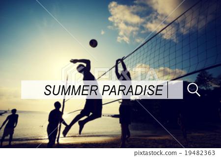 Summer Paradise Search Website Beach Concept 19482363