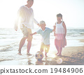 beach, family, football 19484906