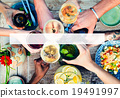 Food Table Healthy Delicious Organic Meal Concept 19491997