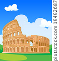Great Colosseum, Rome, Italy. Vector illustration. 19492687