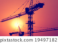 Construction Major Housing Project Construction Crane Concept 19497182