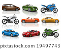 Motorbike Motorcycle Car Wheels Transportation Concept 19497743