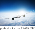 Airplane Skyline Horizon Flight Cloud Concept 19497797