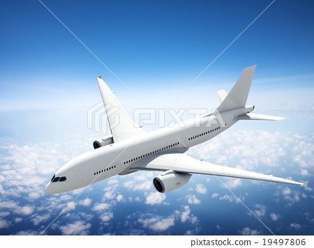 Airplane Skyline Horizon Flight Cloud Concept 19497806
