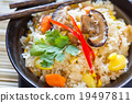 Sticky rice with carrot sweet corn and mushroom 19497811