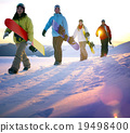 Snowboarding People Recreation Outdoors Hobby Concept 19498400