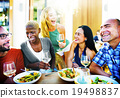 Diverse People Friends Hanging Out Drinking Concept 19498837