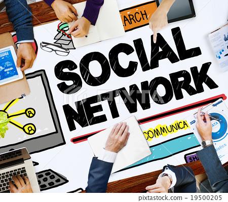 Social Network Social Media Internet WWW Web Online Concept 19500205
