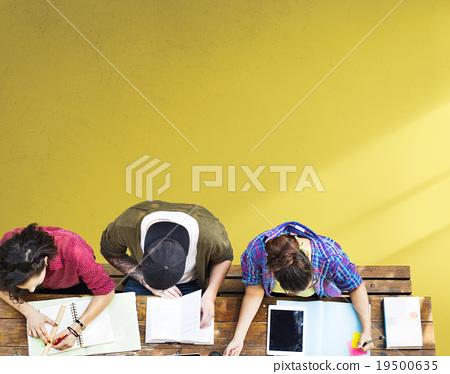 Stock Photo: Students Studying Learning Education