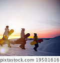 People on their way to snow boarding Concept 19501616