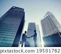 Businessmen Cityscape Handshake Partnership Concept 19501762