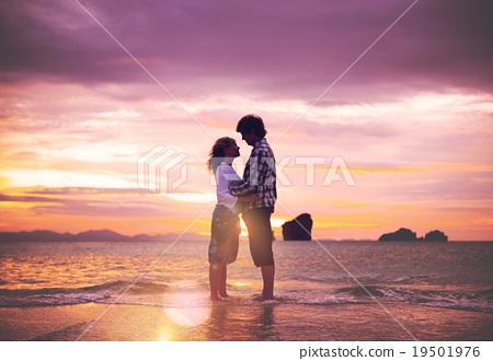 Stock Photo: Couple Love Beach Romance Togetherness Concept