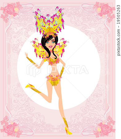 Beautiful carnival girl 19505263