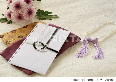 funeral envelope funeral gift bag obituary stock photo 19512046