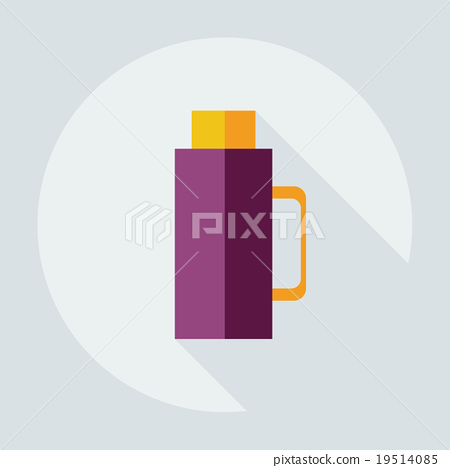 Flat modern design with shadow icons thermos 19514085