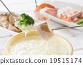 奶酪火锅 锅里煮好的食物 火锅 19515174