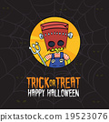 Halloween Trick or Treat Monster Costume Card 19523076