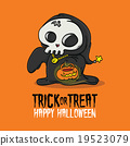 Halloween Trick or Treat Death Costume Card 19523079