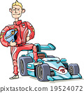 F1 racer and his sports car 19524072