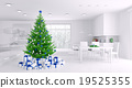 Interior with christmas tree 3d rendering 19525355