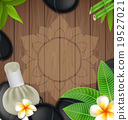 Thai herbs massage spa with compress backgrond 19527021