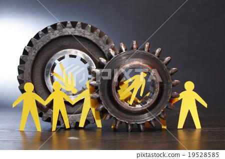 People Between Gears 19528585
