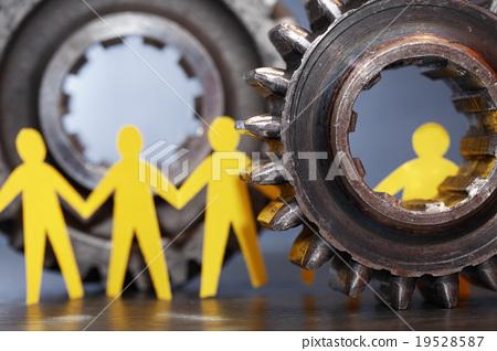 People Between Gears 19528587