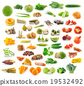 Food collection isolated on white background 19532492