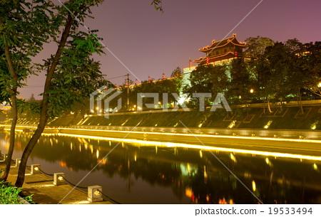 Night scene in Xian 19533494