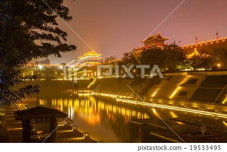 Night scene in Xian 19533495