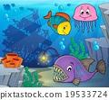 鱼 水生的 水下 19533724