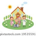矢量 家庭醫療護理 老年夫婦 19535591