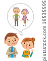 vector, vectors, husband and wife 19535595
