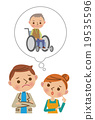 vector, vectors, wheel-chair 19535596