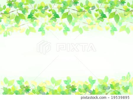 Fresh green illustration background 19539895