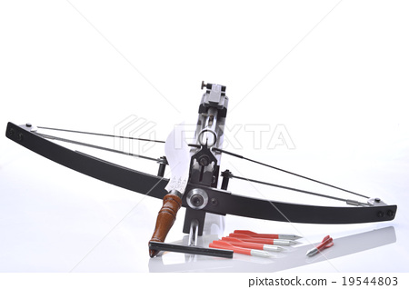 Crossbow with bolt and hunting knife 19544803